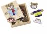 Puzzle drewniane Miś w pudełku  (100003658)