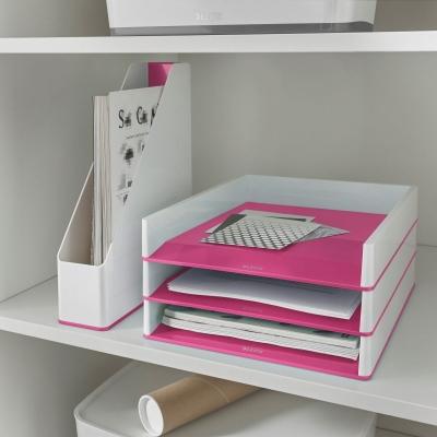 Szuflada na dokumenty Leitz Wow Dual - różowy 26,7 x 4,9 x 33,9 cm (53611023)