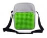 Torba na ramię listonoszka mała Pixelbags szaro-zielona  (WY-A008-WK)