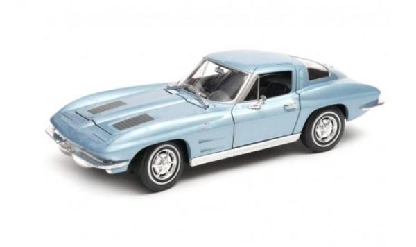 Model kolekcjonerski 1963 Chevrolet Corvette niebieski (24073-1)