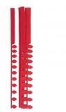 Płatkowe paski do quillingu stokrotka i frędzle - czerwone, 12 szt. (QGPQ-052)