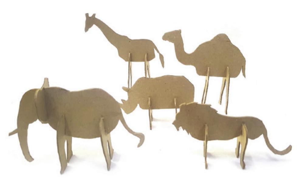 Kształty kartonowe 3D Afryka (450749)