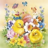 Serwetki TL334000 Chicken in Flowers Wielkanoc