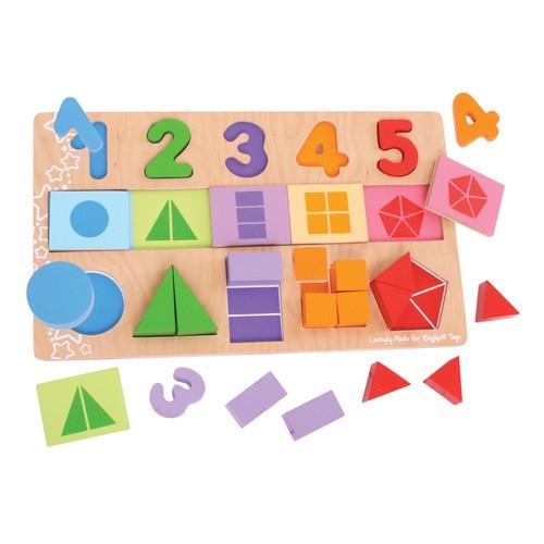 Moje pierwsze ułamki Puzzle drewniane