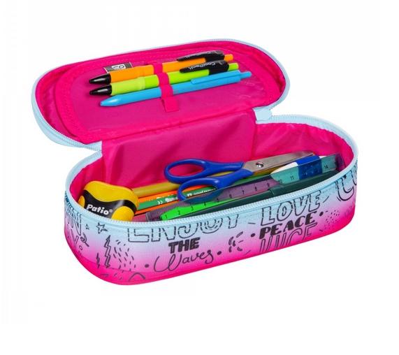 Coolpack Campus, piórnik - Pink Scribble (D062340)