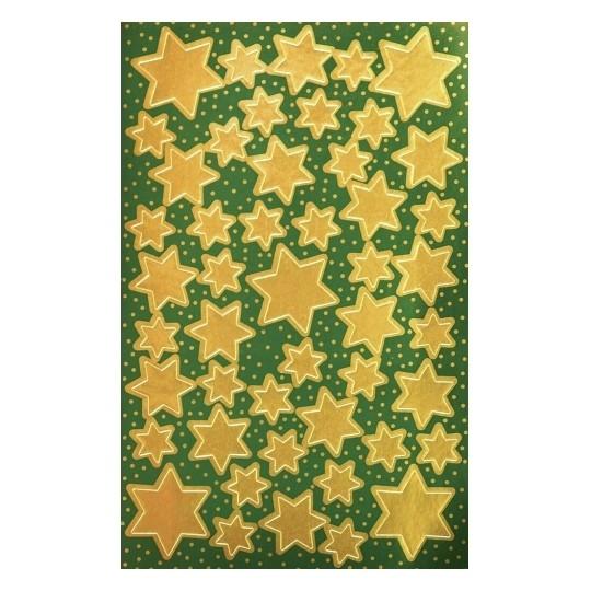 Naklejki bożonarodzeniowe Z Design - Złote gwiazdy (52806)