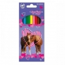 Kredki ołówkowe 12 kolorów Horses