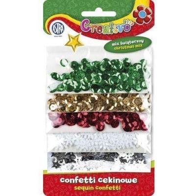 Confetti cekiny mix świąteczny