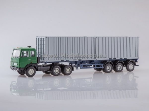 MAZ-6422 Tractor Truck with Container Semitrailer MAZ-938920 (AI7022)