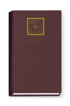 Terminarz 2017 Standard tygodniowy - bordowy