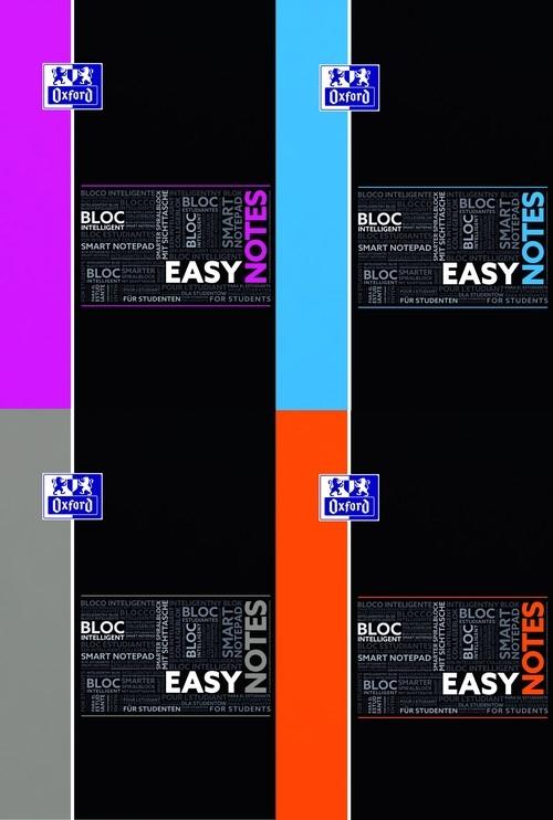 Kołonotatnik A4 Oxford w kratkę 80 kartek EasyNotes mix