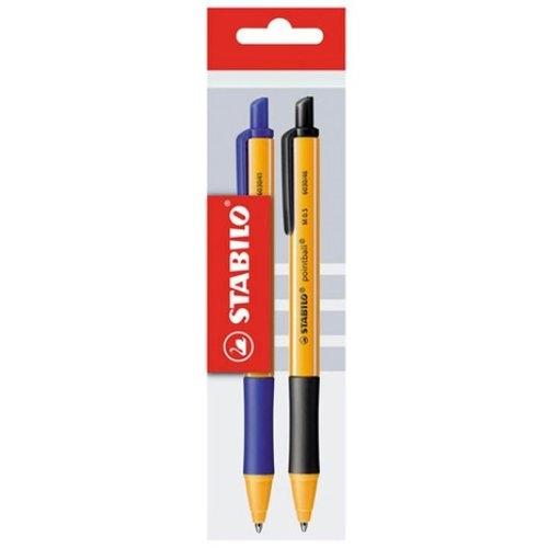 Długopis Pointball niebieski + czarny 2 sztuki