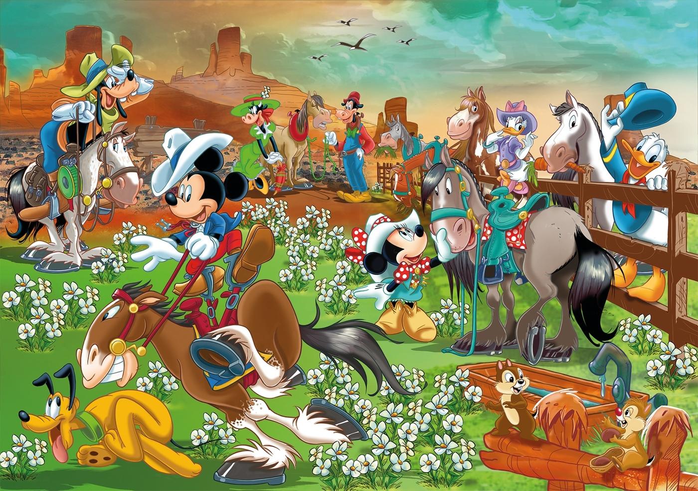 Puzzle Maxi SuperColor 104: Disney - Mickey and friends (23759)