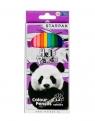Kredki ołówkowe 12 kolorów - Panda