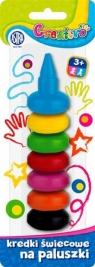 Kredki świecowe na paluszki 7 kolorów ASTRA