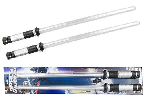 Miecz świetlny Zestaw na baterie 2 sztuki 68 cm