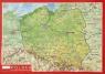 Pocztówka Polska mapa plastyczna