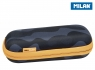 Piórnik owalny usztywniany Milan Black Camouflage Eco czarno-pomarańczowy (081145BM)