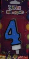 Świeczka urodzinowa - 4 (PTN1-4)