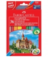 Kredki Zamek 36 kolorów + temperówka (120136)