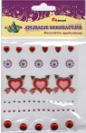 Naklejki kryształki + serce 3D