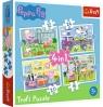 Puzzle 4w1: Świnka Peppa - Wspomnienia z wakacji (34359)
