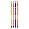 Ołówek 2B grafitowy trójkątny z gumką