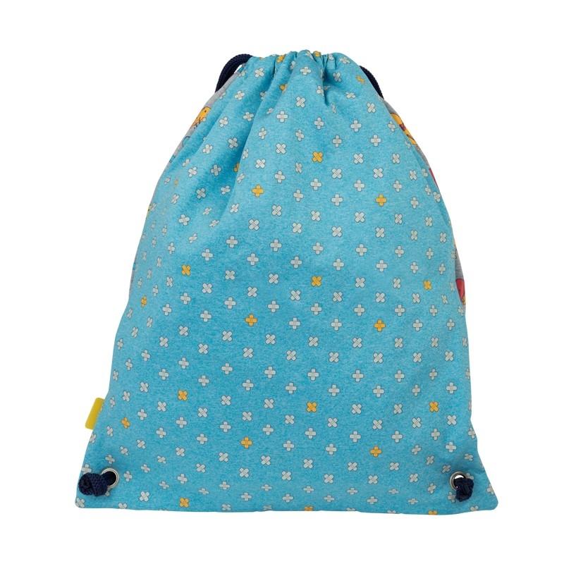 Worek/Plecak duży MILAN KICKFLIP, szaro-niebieski  (08420KF)