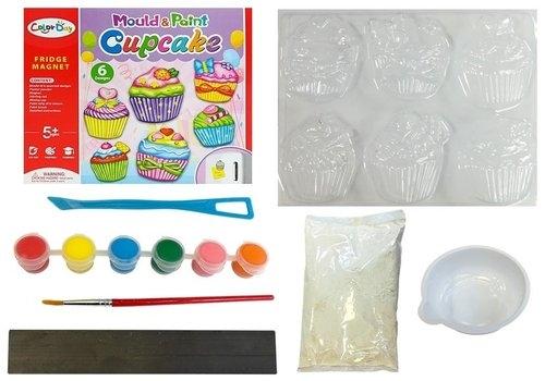 Zestaw kreatywny DIY gipsowe magnesiki cukiernia