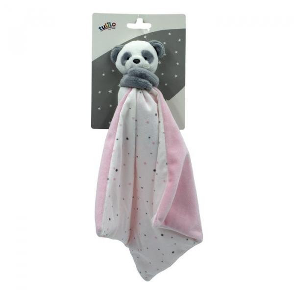 Przytulanka New baby Miluś różowy 25x25 cm (5133a)