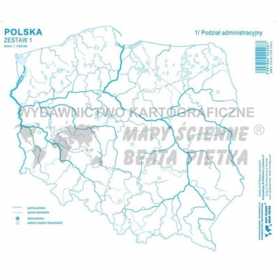 Zestaw I - Polska mapa konturowa