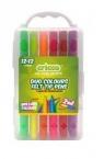 Flamastry Dwustronne Cricco 12/24 kolory (CR386K1224)