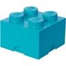 LEGO, Pojemnik klocek Brick 4 - Lazurowy (40031743)