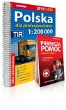 Polska dla profesjonalistów 1:200 000 Atlas samochodowy + instrukcja pierwszej pomocy