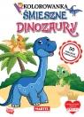 Śmieszne dinozaury z naklejkami z brokatem
