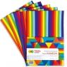 Arkusze piankowe Happy Color Paski Rainbow, A4, 5 arkuszy (HA 7136 2030-RB)