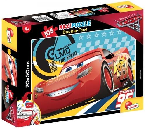 Auta 3: Cars on fire - Puzzle dwustronne maxi 108 (60597)