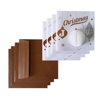 Zestaw 4 kartek Bombka CHRISTMAS JOY
