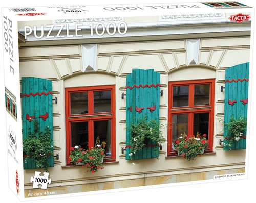 Puzzle Building in Krakow Poland 1000