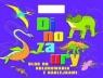 Dinozaury. Blok do kolorowania z naklejkami