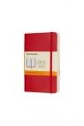 Notes Classic 9x14 linia - czerwony MOLESKINE