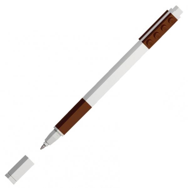 Lego, Długopis żelowy Pick-a-Pen - Brązowy (52659)