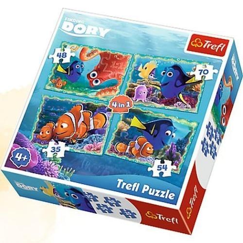 Puzzle 4w1 Podwodne zabawy (34259)