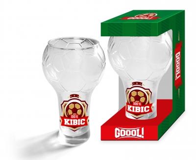 GOOOL szklanka 100% Kibic 300ml .
