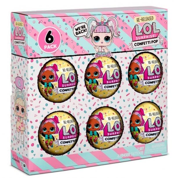 L.O.L. Surprise Figurki 6-pak confetti, Unicorn (571582E7C/571599)