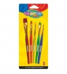Pędzelki akrylowe Colorino Kids, 5 sztuk (32599PTR)