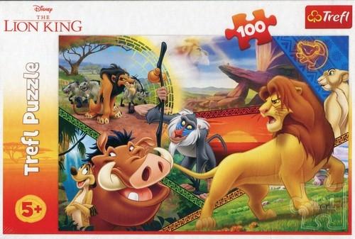 Puzzle 100 Przygody Simby Król Lew