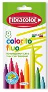 Pisaki Colorito Fluo 8 kolorów