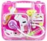 Zestaw lekarski w walizce różowy stetoskop