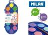 Farby akwarelowe Milan - 12 kolorów (4 fluo + 8 metalizowanych) + pędzel (0531512)